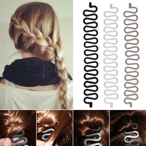 Hair Style Accessories Buns by Fashion Hair Styling Clip Stick Bun Maker Braid