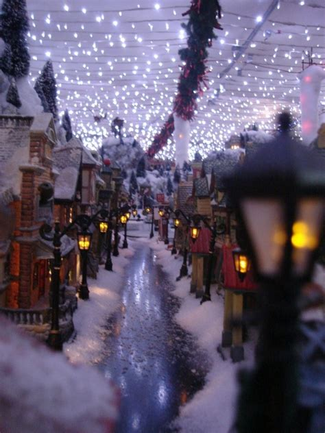 mini lights for christmas village 17 stunning christmas village miniature my visual home