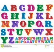 Vetor Colorido Do Alfabeto Completo Imagem De Stock