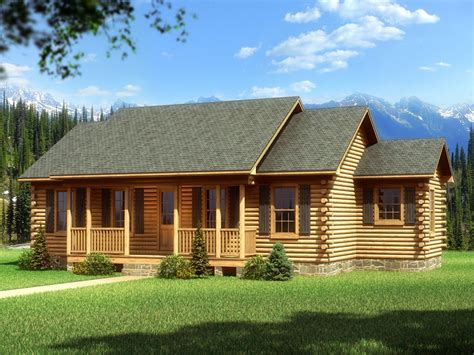 mountain log home plans single story log cabin homes plans single story cabin