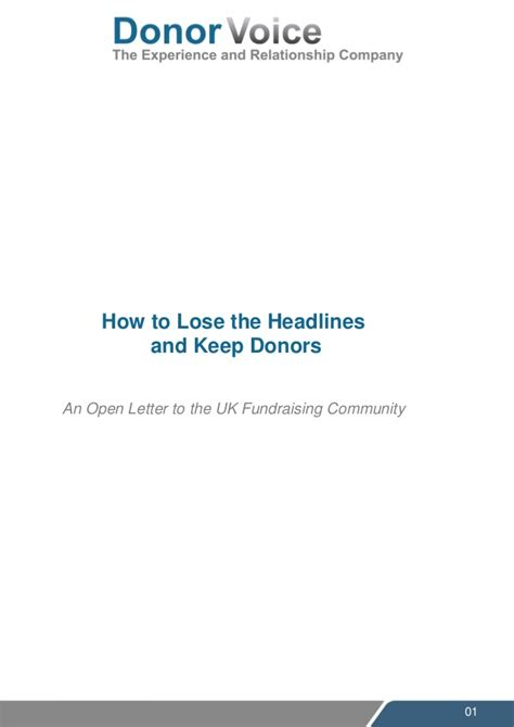 Fundraising Opt Out Letter Donor Voice Open Letter To Uk Fundraisers