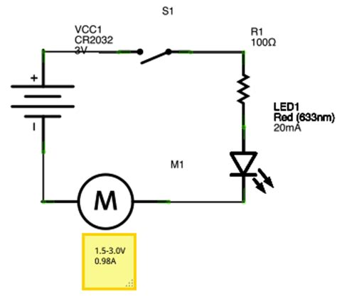 circuit for led and motor electrical engineering stack