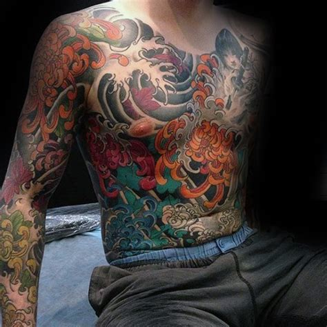 100 chrysanthemum tattoo designs for men flower ink ideas