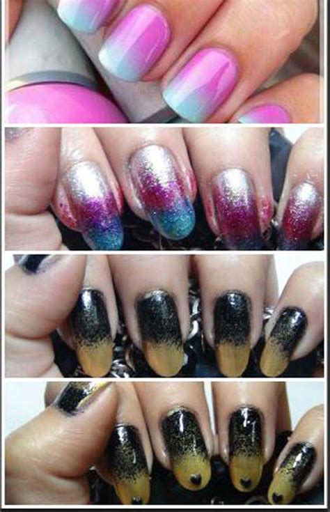 nail art ombre glitter tutorial 36 best tutorials for ombre nails the goddess