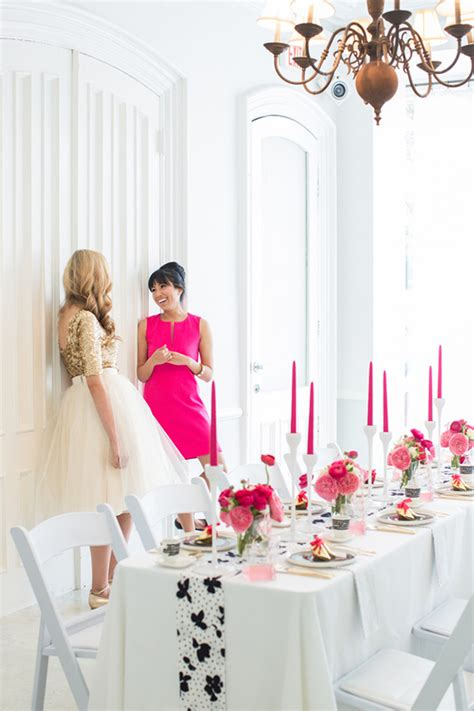 bridal shower themes with black and white modern pink black white ideas 100 layer cake