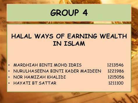 Earning Ways Halal Ways Of Earning Wealth In Islam