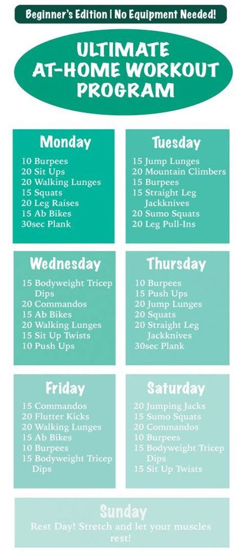 a list of workouts without weights eoua
