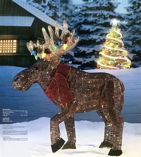 new christmas 2017 45 quot led light glitter string moose