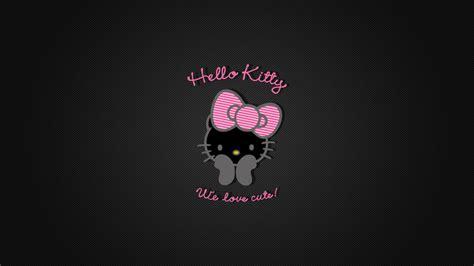 hello kitty dark wallpaper hello kitty black wallpapers imagui