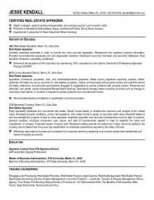 Residential Appraiser Cover Letter by Real Estate Resume S Director And Strategic Manager For