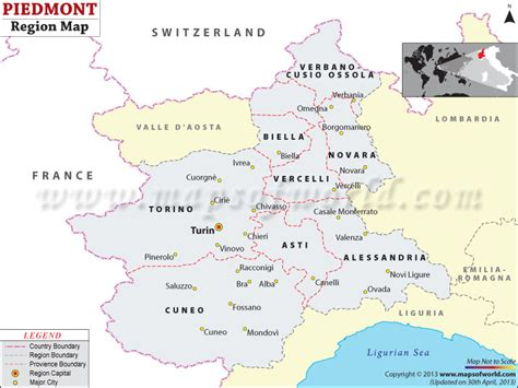 map of piedmont piedmont map map of piedmont region