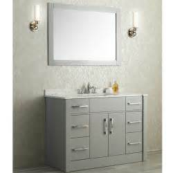 ace 48 quot single sink bathroom vanity set taupe grey finish