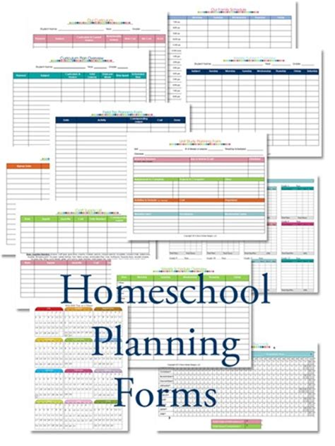 printable planner forms homeschool lesson planner colorful confessions of a