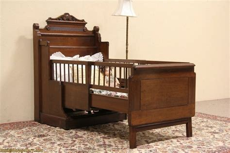 1885 antique cabinet with folding child size bed