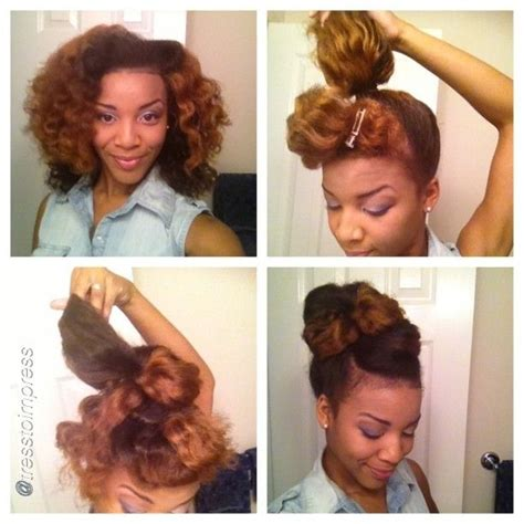 tutorial natural hair styles 293 best natural hair images on pinterest african