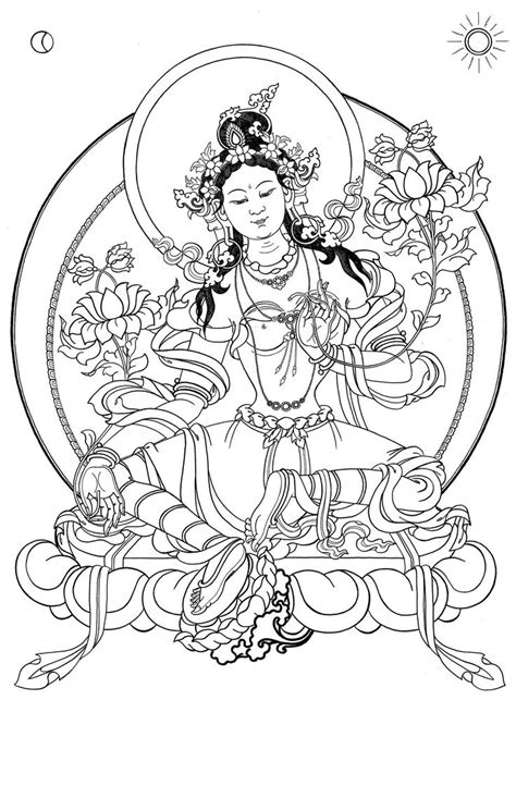 coloring pages for adults buddhist free coloring pages adults green tara google search