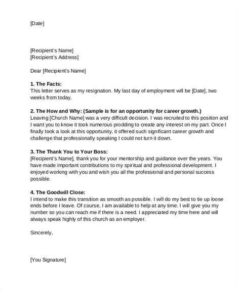Trustee Resignation Letter Template by Cool Sle Church Trustee Resignation Letter For Church Letter Of Resignation Grateful