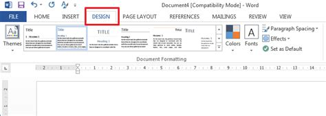 layout tab word 2013 how to modify or create a new style in microsoft word 2013