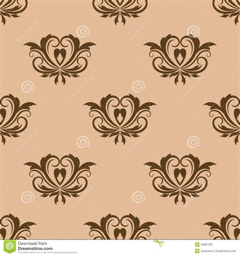 beige and brown seamless pattern stock vector image