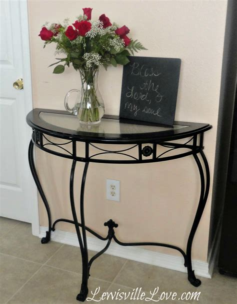 glass top entry table lewisville spray paint to update