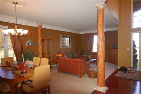 Pictures Of Columns In Living Room by Awesome Marbled Columns