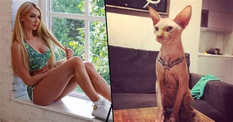 tattoo cat model model posts photos of her cat getting tattoo online