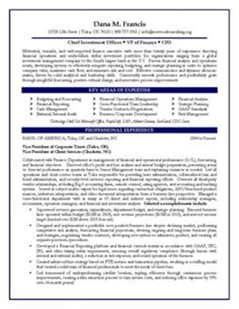 executive biography exle for cfo resume exles biography and portfolio exles
