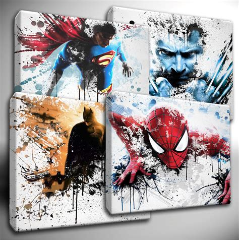 10 best marvel avengers wall decor ideas home design and choose your marvel avengers dc characters paint splatter