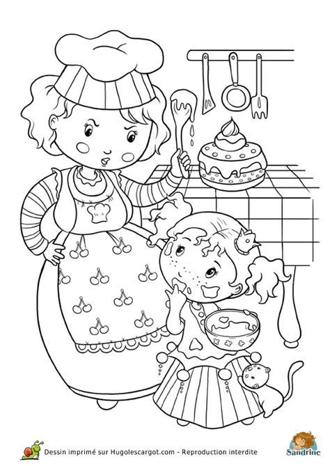 Coloriage princesse cuisine sur Hugolescargot.com