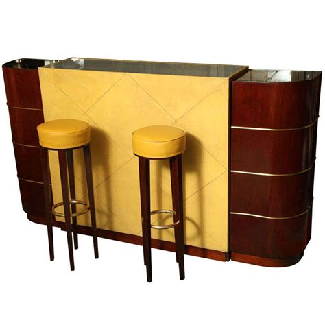modern deco bar stool an exceptional deco bar by andre arbus at 1stdibs