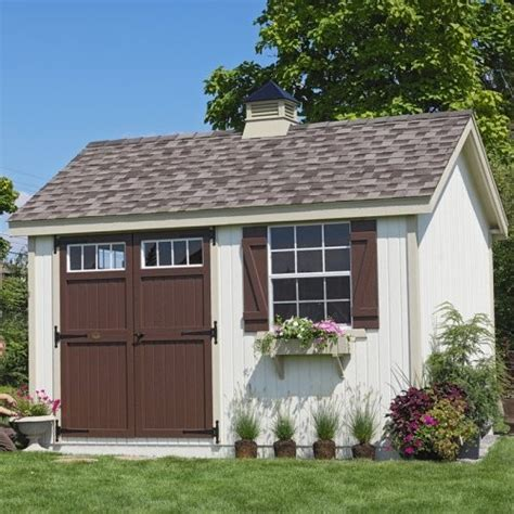 Houzz Garden Sheds cottage 12 x 8 ft pinehurst colonial panelized garden shed sheds by