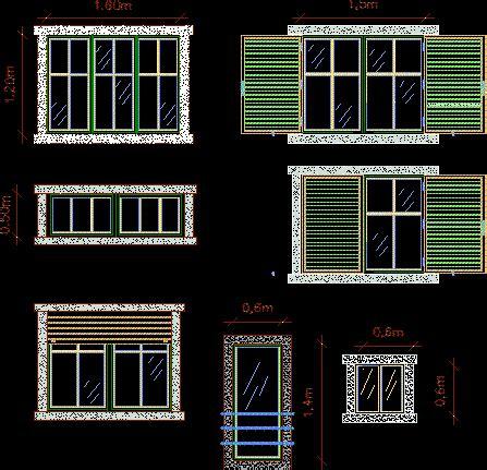 persiana dwg planos de persianas en dwg autocad ventanas aberturas
