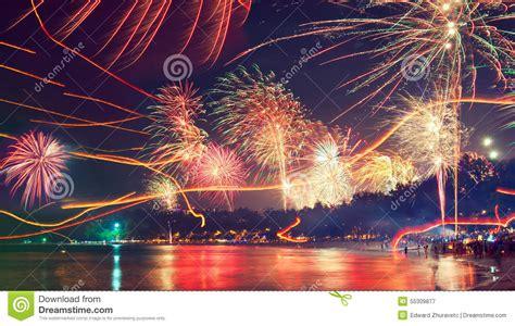 new year thailand firecracker in phuket stock image image of