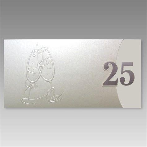 Einladungskarten Hochzeit Exklusiv by Exklusive Einladungskarte Silberhochzeit Mit Gro 223 Er 25