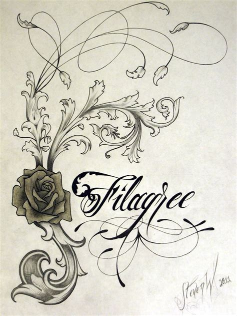 tattoo filigree 65 best filigree and flourishes images on