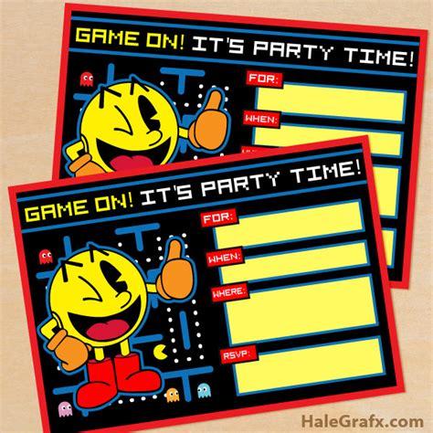 Free Printable Retro Pac Man Birthday Invitation Arcade Invitation Template