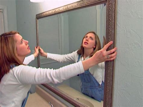 how to hang a framed bathroom mirror how to install a bathroom mirror how tos diy