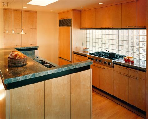 glass block backsplash contemporary kitchen san