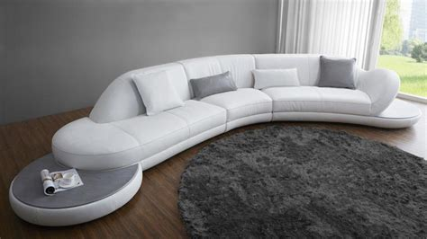 canapé d angle arrondi cuir banquette design cuir