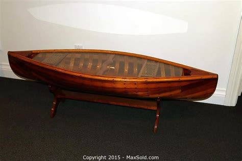 canoe coffee table for sale boat coffee table