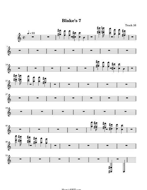 tango drum pattern midi blake s 7 sheet music blake s 7 score hamienet com