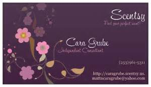 scentsy business card template where the green grass grows scentsy