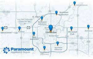 service areas paramount appliance repair