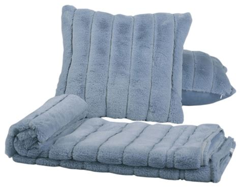 Matching Throw Pillows And Blankets by Bnf Home Rabbit Faux Fur Throw Blanket And 2 Matching
