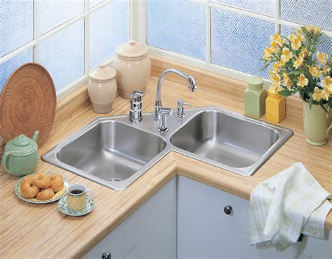 chic and trendy corner kitchen sink designs corner kitchen