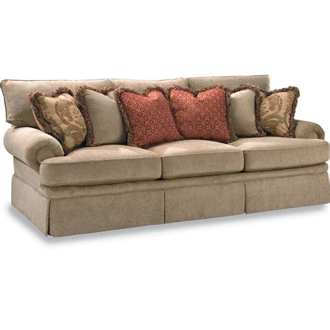 Low Profile Sectional Sofas Huntington House 2081 Sofa With Low Profile Rolled Arm Belfort Furniture Sofas