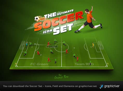 Kickers Psd the soccer set kicker icons field and elements by