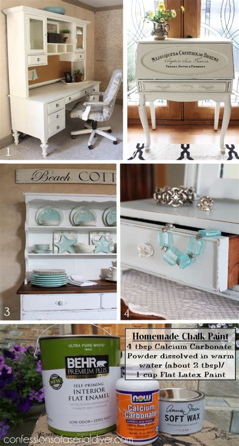 chalk paint recipe for furniture chalk paint recipe with calcium carbonate best