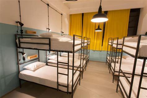 modern loft  bunk beds  youth hostel  dormitory