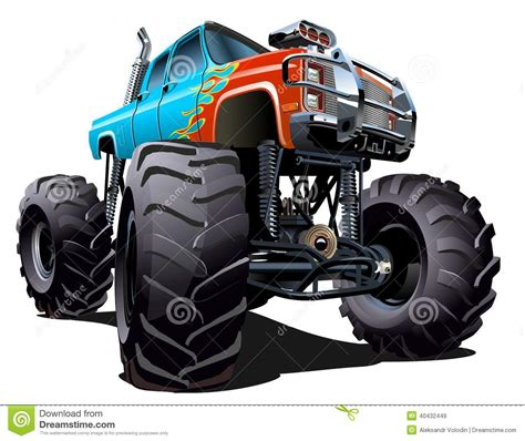 monster truck cartoon videos cartoon monster truck stock vector illustration of